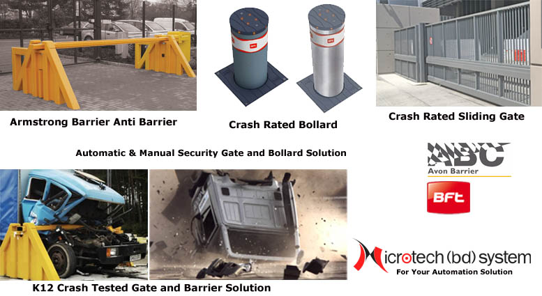 High Security - Crash Rated - Automatic Bollard Barrier, Armstrong Barrier Solution in Bangladesh