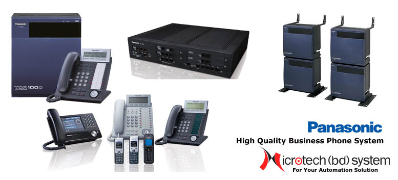 Panasonic PABX System, Intercom System, Hybrid IP PABX System and IP Telephony System Solution in Bangladesh