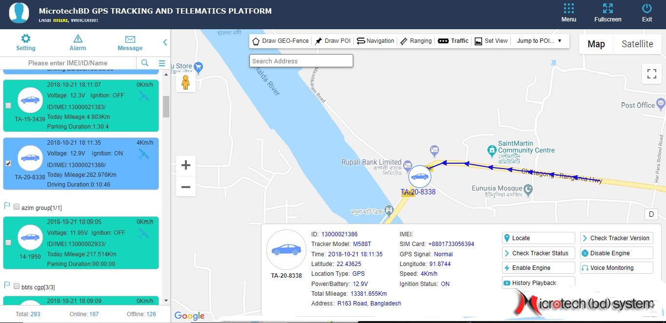 Real Time GPS Tracking System Online Monitoring